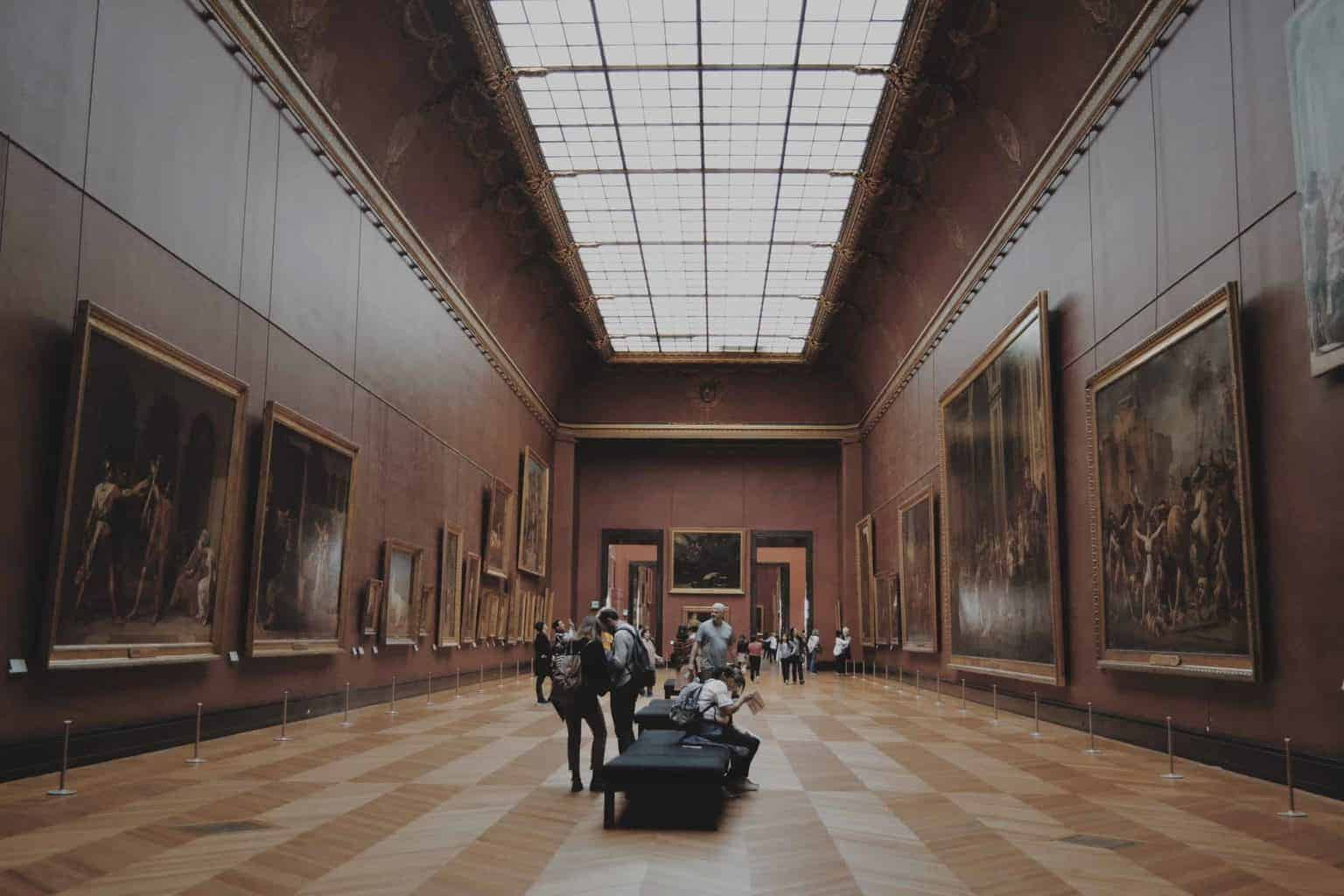 Inside of a museum