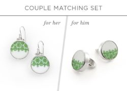20th Anniversary Gifts For Parents -Couple Matching Jewelry Set