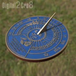20th Anniversary Gifts For Parents - Garden Sundial with Message
