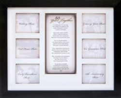 50th Anniversary Gifts For Parents -50th Anniversary Collage Picture Frame