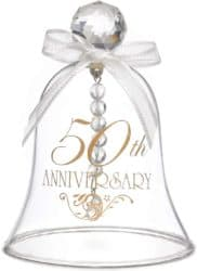 50th Anniversary Gifts For Parents -50th Anniversary Glass Bell