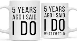 5th Anniversary Gifts For Parents - Coffee Mug Gag Set
