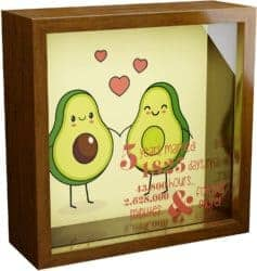 5th Anniversary Gifts For Parents -Wooden Shadow Box