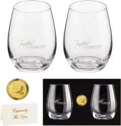 Best Anniversary Gifts For Parents -Crystal Seamless Wine Glass Set