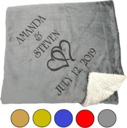 Best Anniversary Gifts For Parents -Personalized Blanket