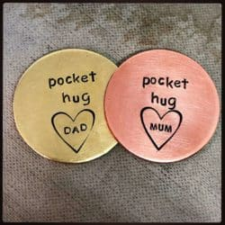 Cheap anniversary gifts for parents - Personalized Pocket Hug Love Token