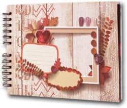 DIY anniversary gifts for parents - Scrapbook Photo Album