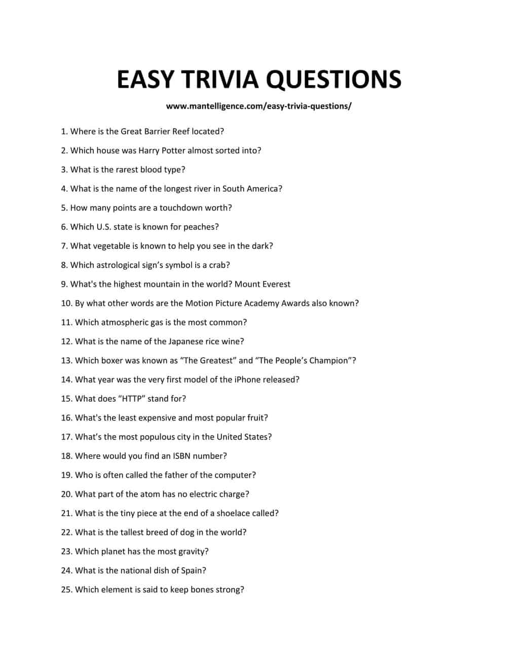 EASY TRIVIA QUESTIONS-1 (1)
