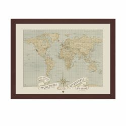 cool anniversary gifts for parents - Custom World Push Pin Travel Map