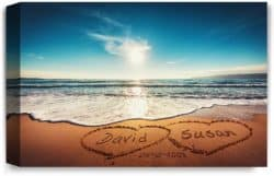 cool anniversary gifts for parents - Personalized Artwork with Names and Dates
