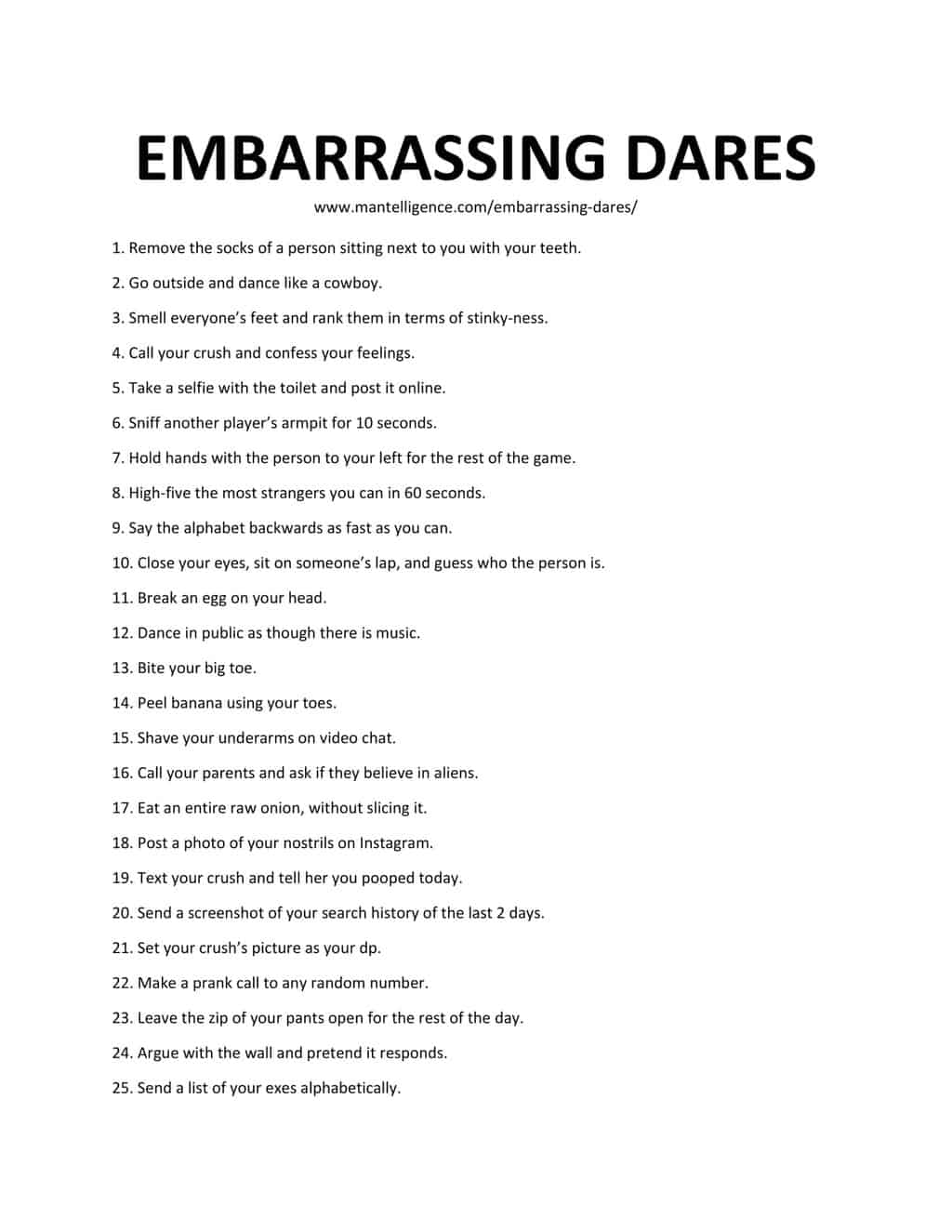 Clever dares