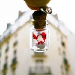 small anniversary gifts for parents - Origami Miniature in Mini Glass Bottle