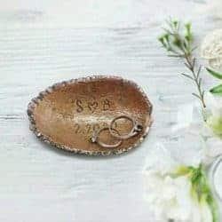small anniversary gifts for parents - Ring Dish