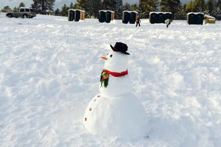 What northeastern US state holds the Guinness record for the largest snowman? Maine