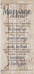 thoughtful anniversary gifts for parents - Marriage Prayer Wood Plaque