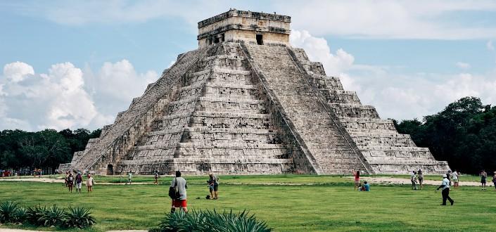 A historical pyramid tourist destination