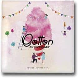 2 year anniversary gifts - Cotton anniversary photo album