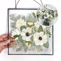 2 year anniversary gifts - Bridal bouquet keepsake