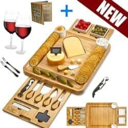 2 year anniversary gifts - Cheese board with 2 sets of utensils