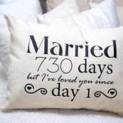 2 year anniversary gifts - Cotton anniversary pillow
