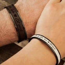 2 year anniversary gifts - Couple bracelets