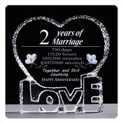 2 year anniversary gifts - Crystal sculpture keepsake