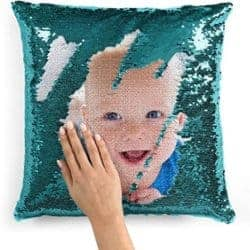 2 year anniversary gifts - Custom photo sequin pillow case
