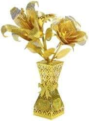2 year anniversary gifts - DIY romantic golden flower