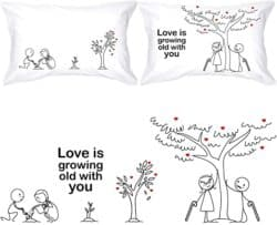 Grow old with you pillowcase