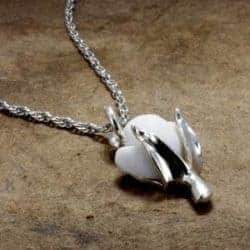 Cottonball necklace