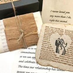Handmade love letter paper card