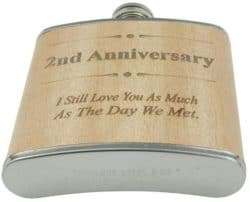 2 year anniversary gifts - Hip flask