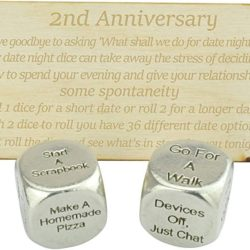 2 year anniversary gifts - Metal date night dice