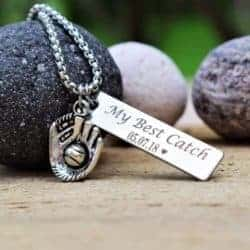 2 year anniversary gifts - My best catch personalized necklace