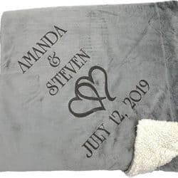 2 year anniversary gifts - Personalized couple blanket