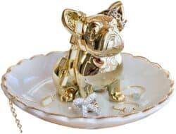 Bulldog ring holder dish