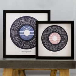 50th wedding anniversary gifts for parents - Custom Vinyl Record Label Wedding