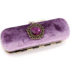 50th wedding anniversary gifts for wife - Vintage Lipstick Case with Mirror