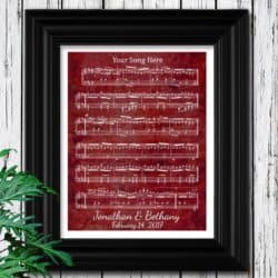 Birthday Gift Ideas For Girlfriend That Can Be For Anniversaries - Dance Sheet Music Wall art