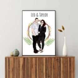 Birthday Gift Ideas For Girlfriend That Can Be For Valentine's - Custom couple portrait illustration