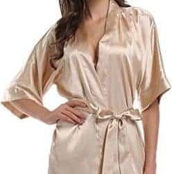 Practical birthday gift ideas for girlfriend - Satin Kimono Robe