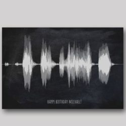 Unique Birthday Ideas for Girlfriend - Soundwave Art
