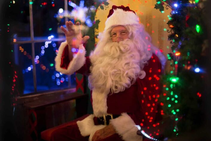 Man dresses up as Santa Claus