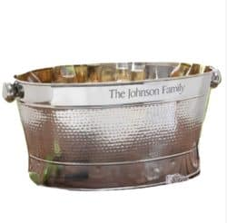 best 50th wedding anniversary gifts - Customize Stainless Steel Party Tub