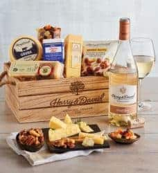 best 50th wedding anniversary gifts - Harry and David Gourmet Cheese Gift Wine