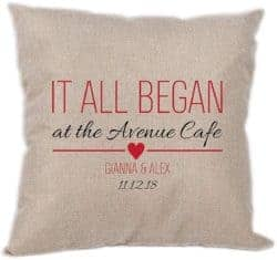 best 50th wedding anniversary gifts - It All Began Personalized Pillow