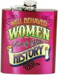 best birthday gift ideas for girlfriend - Well Behaved Women Flask