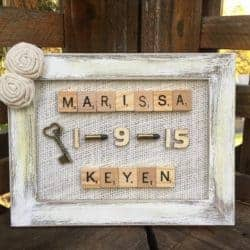 small 50th wedding anniversary gifts - Wedding Anniversary Scrabble Frame Board