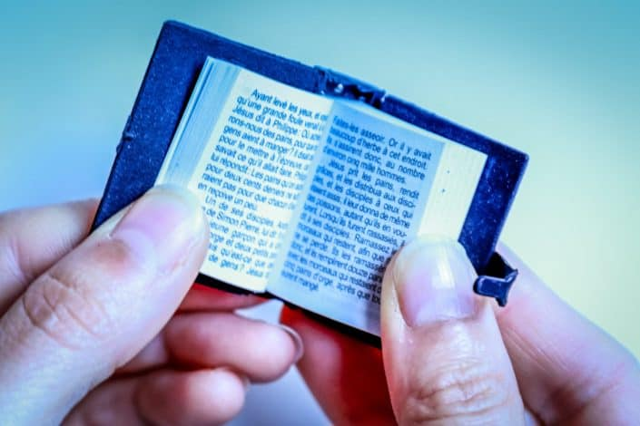 Bible trivia questions and answers - How small is the Nano bible being the smallest bible in the world
