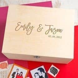 thoughtful 50th wedding anniversary gifts - Couple's Keepsake Box